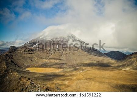 Mount Ngauruhoe, Tongariro national park, New Zealand  - stock photo