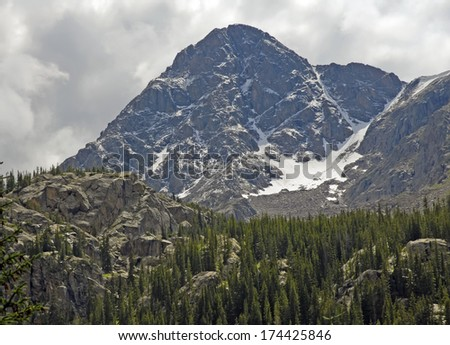 Mount of the Holy Cross, with Storm Clearing, Rocky Mountains, Colorado - stock photo