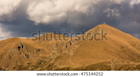 Mount Panarotta, a location with a wide-angle panoramic view. Trentino, Italy