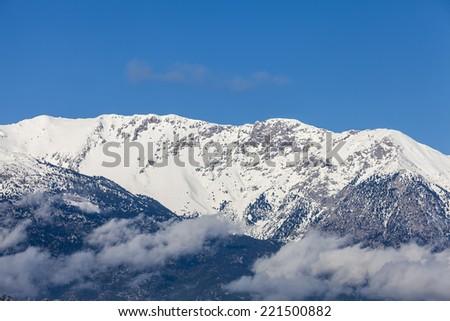 Mount Parnassus or Parnassos,Greece  - stock photo