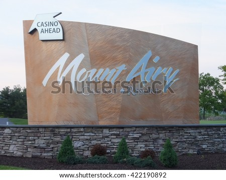 MOUNT POCONO, PA - MAY 25: Mount Airy Casino Resort in Pocono, Pennsylvania, as seen on May 25, 2014. It is one of two AAA 4 Diamond Casino Resorts in Pennsylvania. - stock photo
