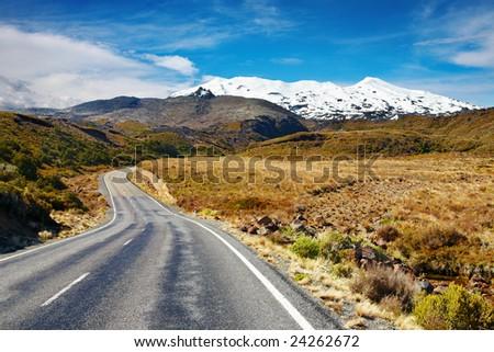 Mount Ruapehu, New Zealand - stock photo