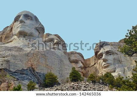 Mount Rushmore at Keystone in South Dakota, USA - stock photo