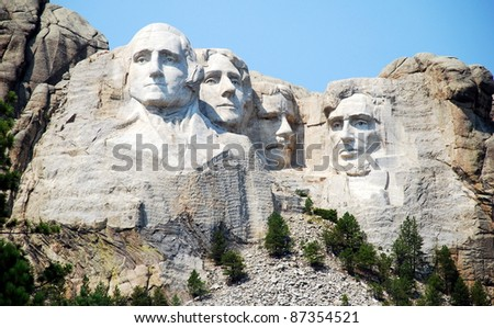 Mount Rushmore in USA - stock photo
