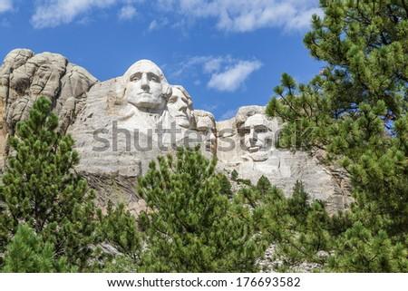 Mount Rushmore, South Dakota - stock photo