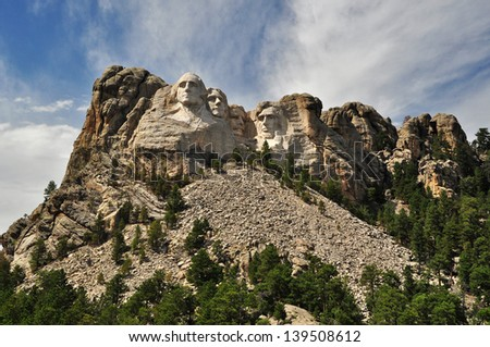 Mount Rushmore, South Dakota, USA - stock photo