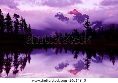 Mount Shuksan - stock photo