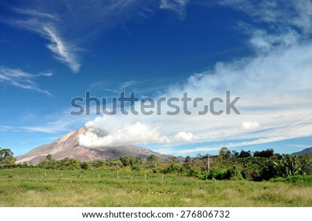 Mount Sinabung - stock photo