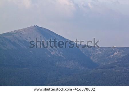 MOUNT SNIEZKA, POLAND - stock photo