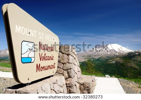 Mount St. Helens National Volcanic Monument viewpoint - stock photo
