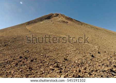 mount teide volcano tenerife spain with fog and clouds