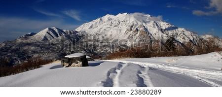 Mount Timpanogos - stock photo