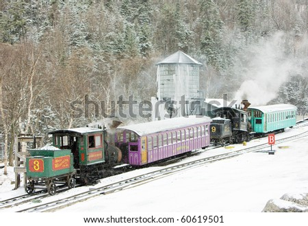 Mount Washington Cog Railway, Bretton Woods, New Hampshire, USA - stock photo