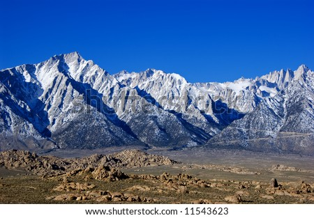 Mount Whitney and lone pine peak and the alabama hills california usa