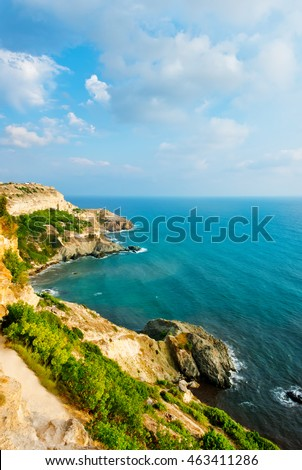 mountain and sea in crimea