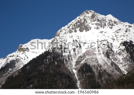Mountain around the Oz en Oisans Station in the French Alps