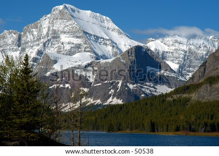 Mountain at Glacier NP - stock photo