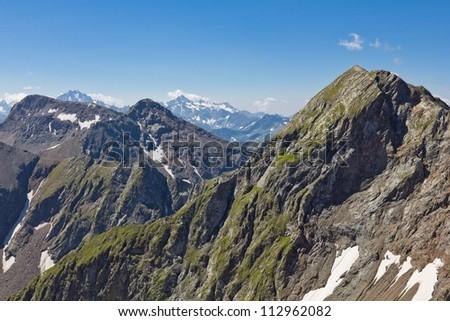 mountain backbone - stock photo