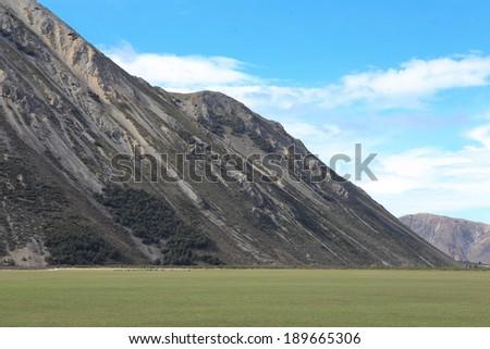 Mountain background - stock photo
