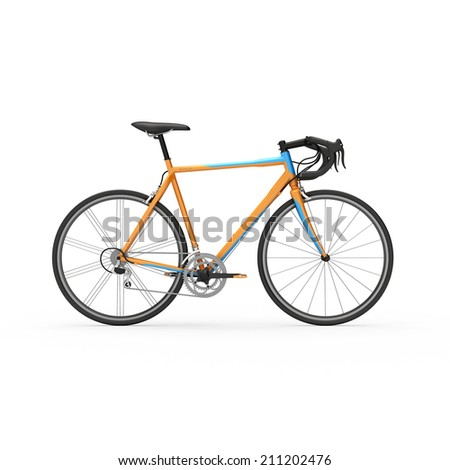 Mountain bicycle. 3d illustration.