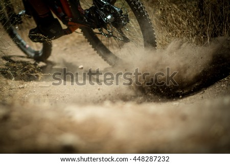 Mountain bike, outdoor fun - stock photo