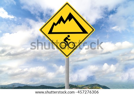 Mountain bike sign