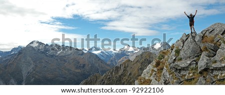 mountain climber - stock photo