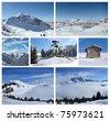 Mountain Collage - stock photo