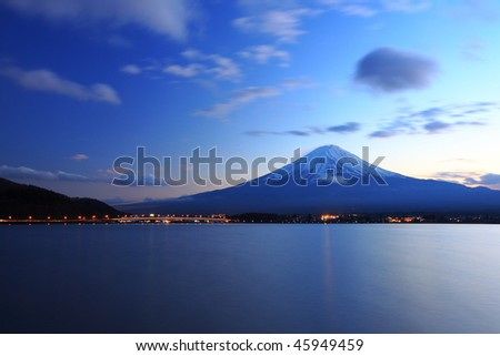 Mountain Fuji in the evening - stock photo