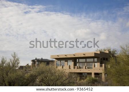 Mountain home in Tucson Arizona - stock photo