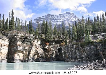 Mountain in Jasper - stock photo