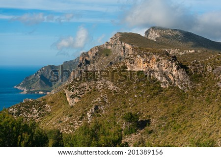 Mountain in Mallorca - stock photo