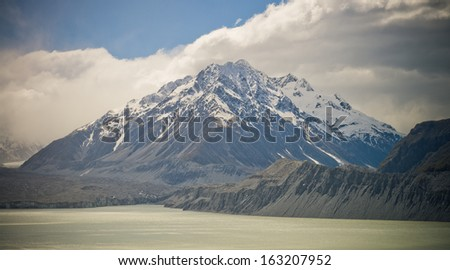 Mountain in New Zealands Southern Alps - stock photo