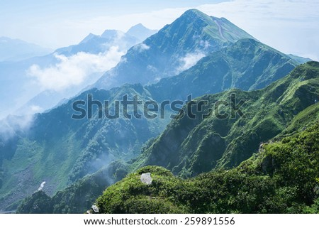 Mountain in Sochi  - stock photo