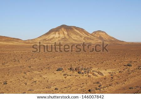 Mountain in the Sinai desert - stock photo