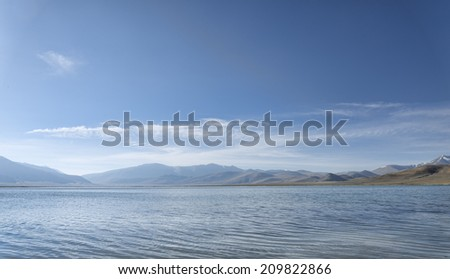 Mountain lake at morning