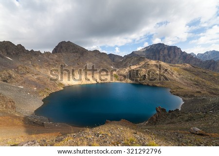 Mountain lake, Beautiful landscapes with high mountains
