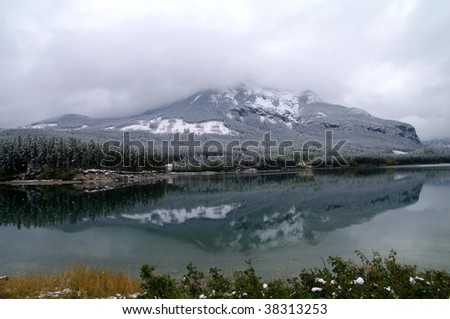 Mountain Lake in Early Winter