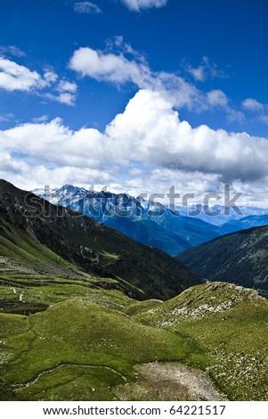 Mountain landscap - stock photo