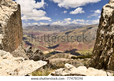 mountain landscape at Andes of South America altiplano