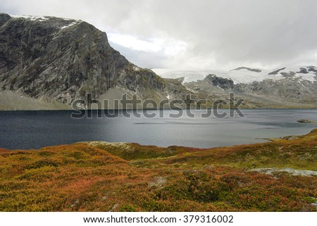 Mountain landscape at the Djupvatnet in Norway