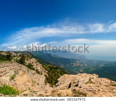 Mountain landscape. Crimea - stock photo