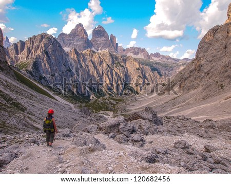mountain landscape - Dolomites, Italy - stock photo