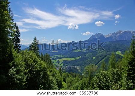 mountain landscape in Austria - stock photo