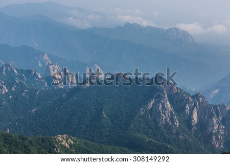 mountain landscape in korea