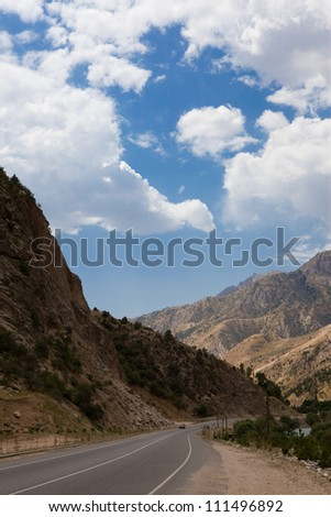Mountain landscape in Tajikistan