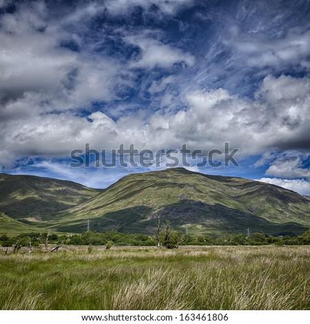 Mountain landscape. Loch Awe, Scotland. - stock photo