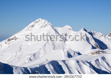 Mountain landscape of Krasnaya Polyana, Sochi, Russia - stock photo