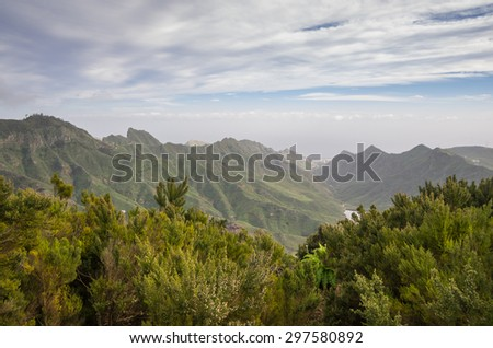 Mountain landscape on Tenerife, Canary Islands, Spain