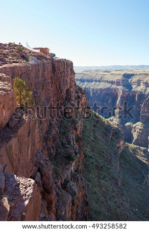 Mountain landscape. Steep cliffs of Grand Canyon